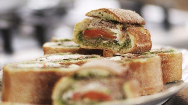 Eén - Dagelijkse kost - verrassingsbrood met rosbief en groenten