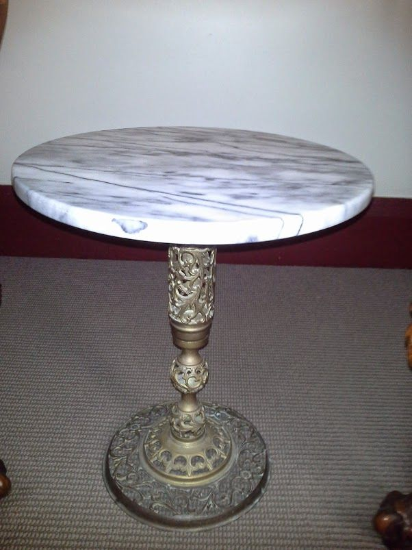Marble top lace decorative side table http://beauforthouse.com.au/antique-auction/