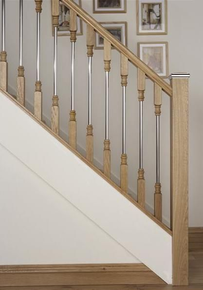 Axxys Solo Oak And Chrome Stair Parts