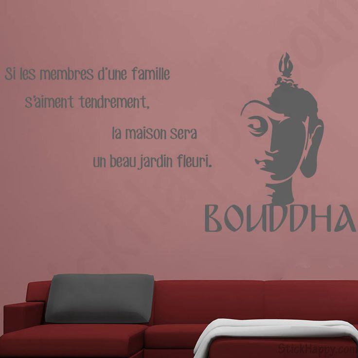 Stickers bouddha famille si les membres d 39 une famille s for Tete de bouddha pour jardin