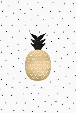 Golden Pineapple - Elisabeth Fredriksson - Acrylglasbild