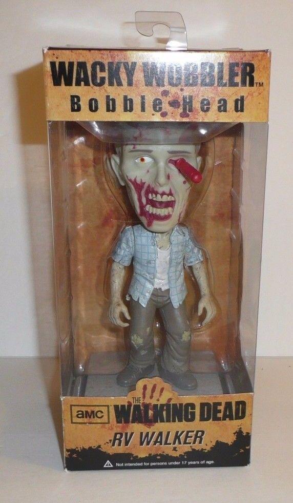 RV Walker Zombie The Walking Dead Bobble Head Figure Wacky Wobbler Screwdriver  #Funko
