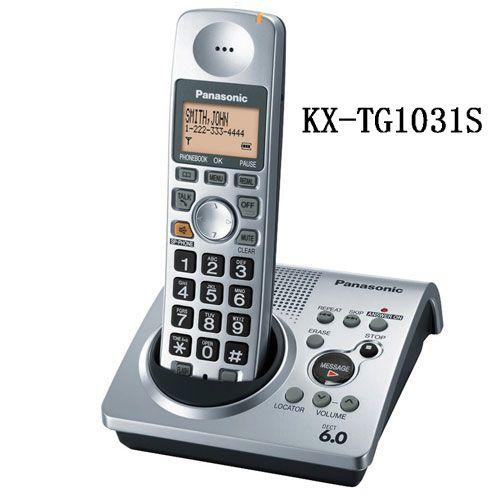 1 Handset KX-TG1031S digitale telefoon 1.9 GHz DECT 6.0 Draadloze telefoon met antwoordapparaat
