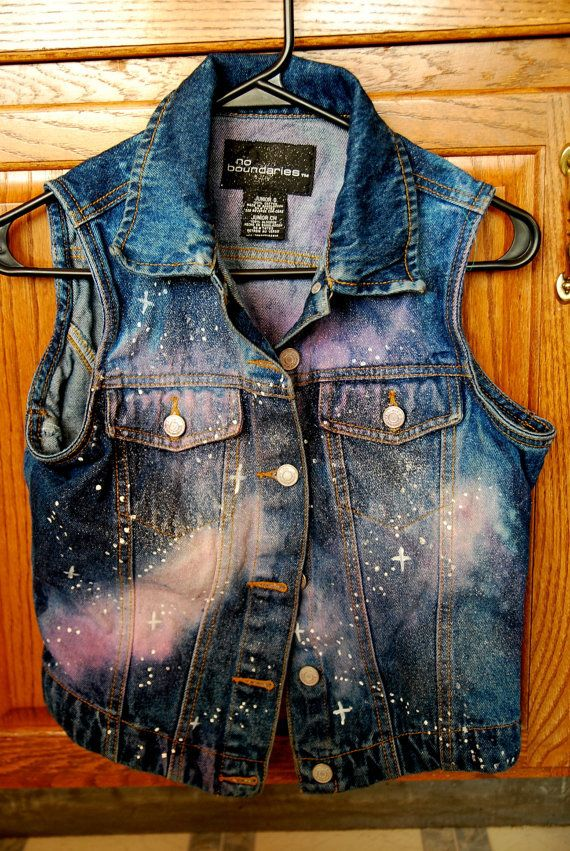 D.I.Y Galaxy Jacket Vest idea  Not a chick, but this is totally cool!