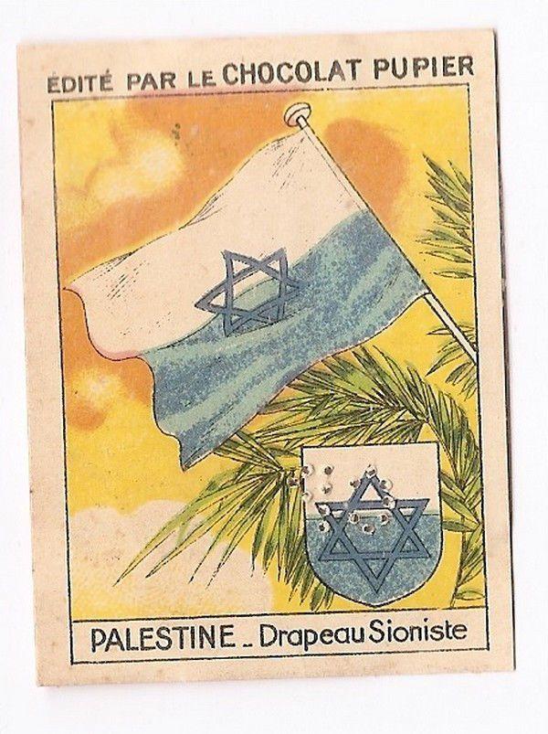 Palestine - - Drapeau Sioniste -  Moyen Orient - - Image Chocolat Pupier