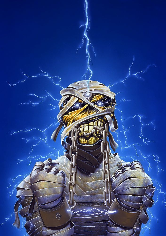 classic 80s Iron Maiden Eddie - Powerslave Tour (airbrush art by Derek Riggs)