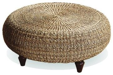 Urban Home Natural Banana Core Ottoman tropical ottomans and cubes