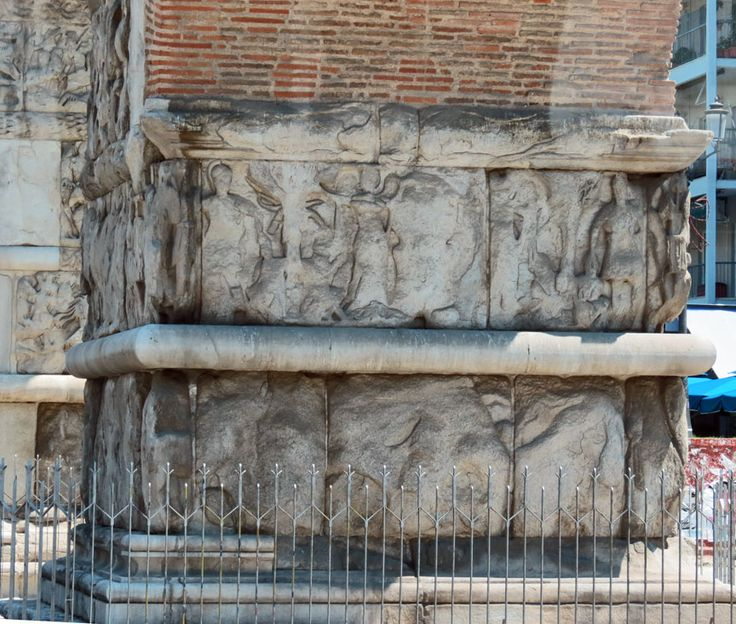 Triumphal Arch of Galerius Close Up, Thessaloniki, Macedonia, Greece - Travel Photos by Galen R Frysinger, Sheboygan, Wisconsin