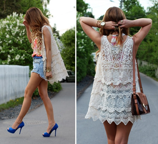 Gorgeous vest. I'm finding this vest it would look so cute on me.