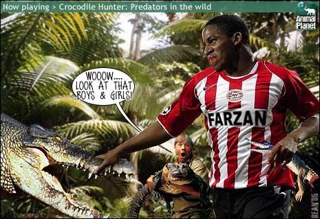 Een oude fotosoep uit 2005 voor de online fotosoepcompetitie van www.vi.nl. Jefferson Farfán, bijnaam 'The Predator From Peru'.