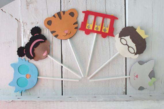Daniel Tigers Neighborhood Character Inspired Cupcake by shopfluff