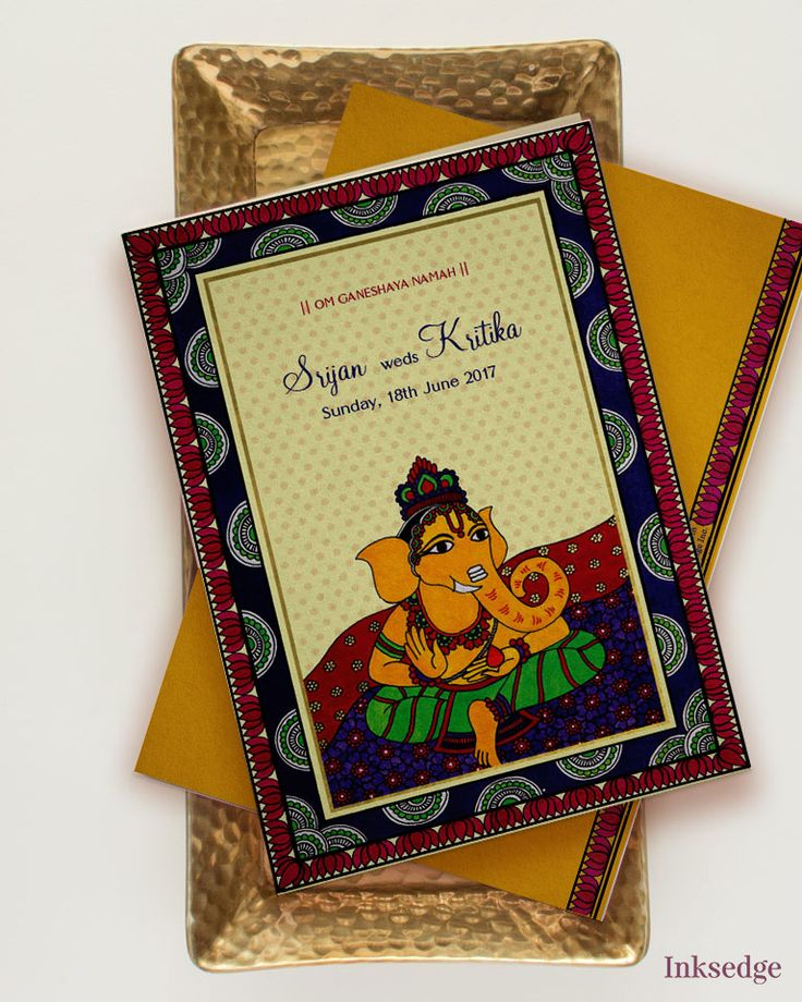12 best Indian Folk Wedding Invitations images on Pinterest | Indian ...