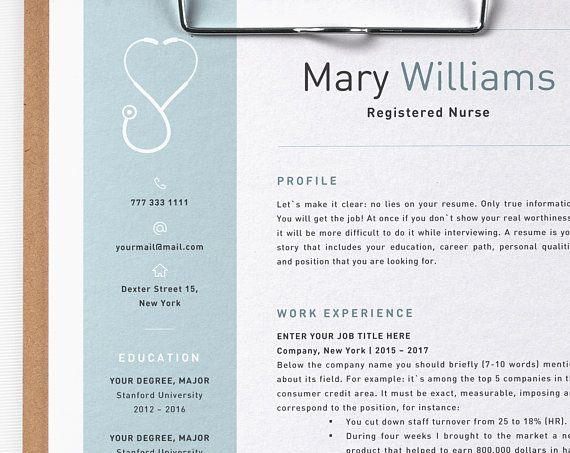 Psych Nurse Resume 7 Best Registered Nurse Resume Template Images On Pinterest