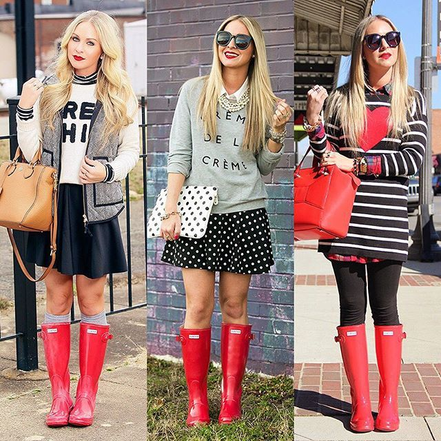 I can't get enough of these red @HunterBoots! I've compiled all my favorite looks plus what you should know before buying a pair on CortInSession.com tonight @liketoknow.it www.liketk.it/1Omds #liketkit