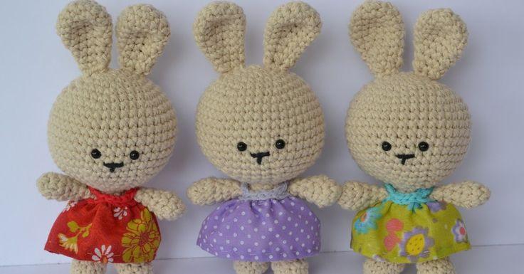 Ya!!!! aquí tengo para todas y todos el patrón para realizar a estas conejitas para Pascua (o para cualquier otra ocasión en realidad...)  E...