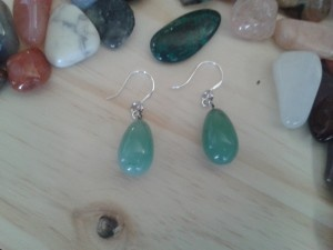 Aventurine drop earrings for sale, brought to you by For Keeps Gemstone accessories