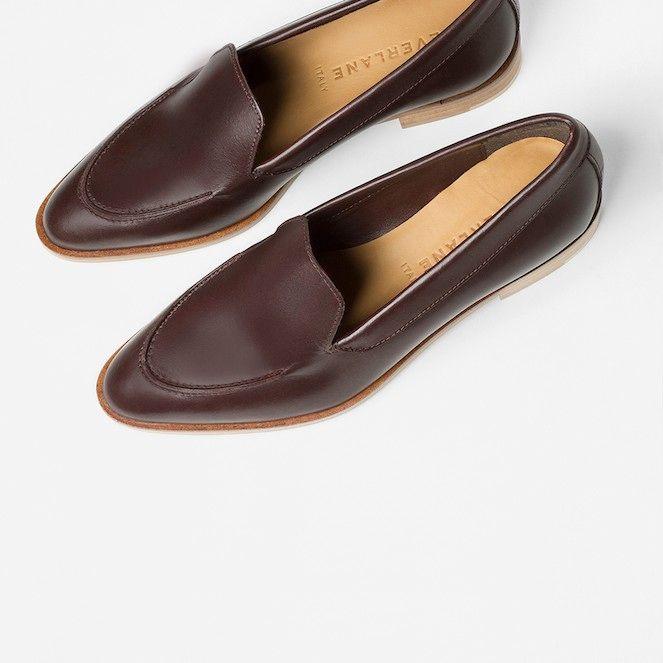 Le blog de moda - zapatos Crush: Everlane El holgazán Moderno de Borgoña -  foto
