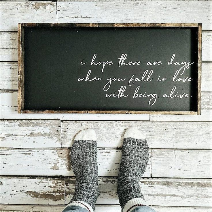 Fall In Love With Being Alive | Wood Sign farmhouse signs, rustic signs, fixer upper style, home decor, rustic decor, inspiring quotes, wood sign sayings, magnolia market, rustic signs, boho, boho style, eclectic living, living room inspiration