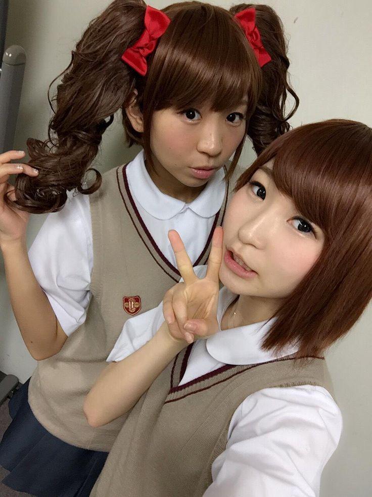 """古川未鈴 Furukawa Mirin and 藤咲彩音 Fujisaki Ayane (""""Pinky"""") - Dempagumi.inc / でんぱ組.inc"""