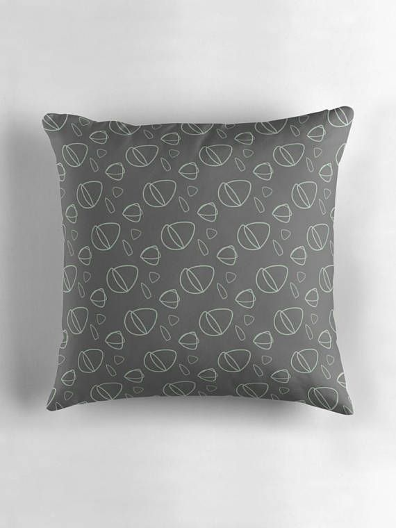 Charcoal cushion Abstract cushions Dark Grey throw pillow