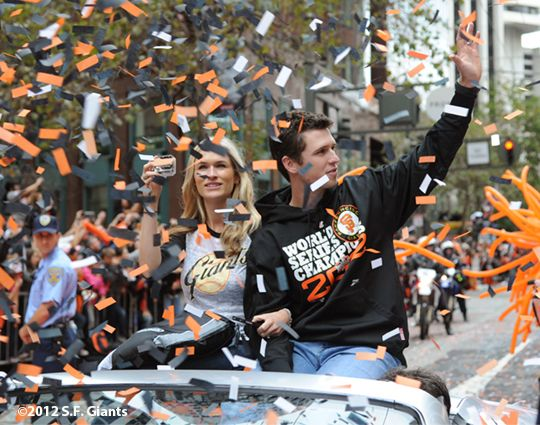 Buster Posey and the giants are champions