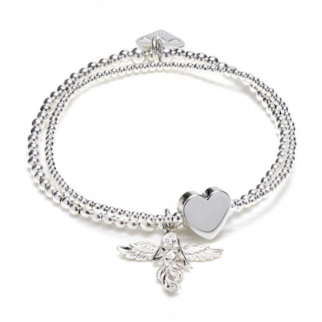 Delicate and beautiful 'Bella Anna' silver charm bracelet with Annie's signature 'My Guardian Angel' charm