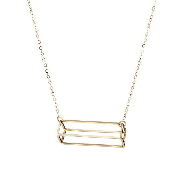 3D Rectangle Necklace