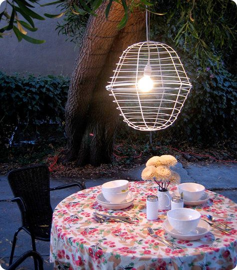 Outdoor Planter Pendant Lamp