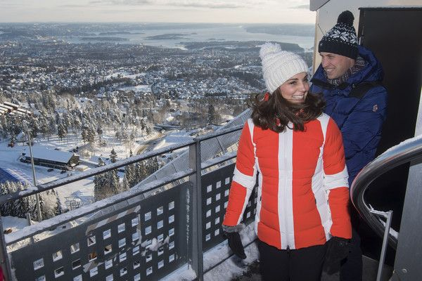 Kate Middleton Photos - Catherine, Duchess of Cambridge and Prince William, Duke of Cambridge arrive to watch ski jumpers from Norway's national team at Holmenkollen ski jump on day 4 of their visit to Sweden and Norway on February 2, 2018 in Oslo, Norway. - The Duke and Duchess of Cambridge Visit Sweden and Norway - Day 4