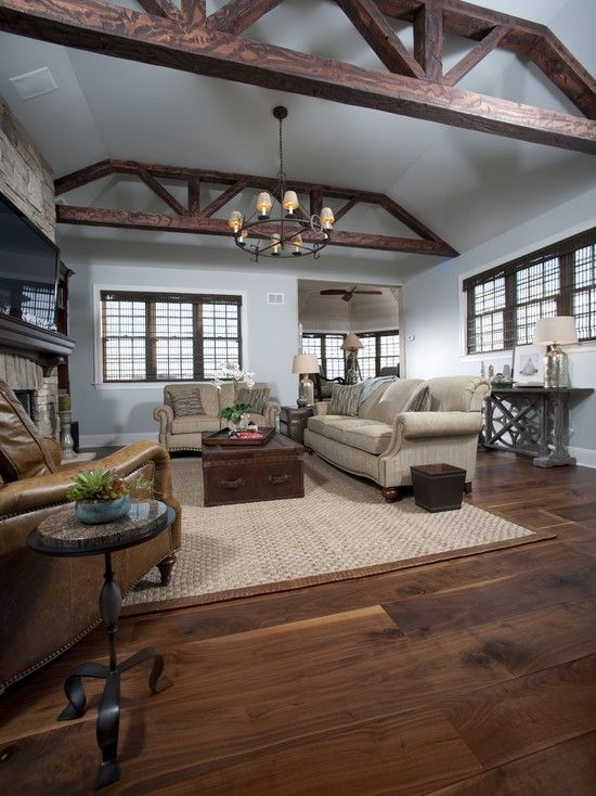 Best 25 wide plank flooring ideas on pinterest hardwood - Hardwood floor living room design ...