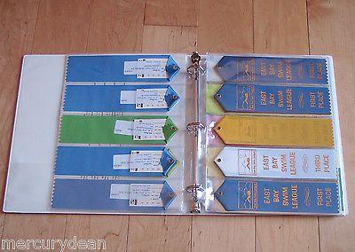 Swimming Ribbon Organizer Ribbons Album Binder Award Holder Display Pages Gift