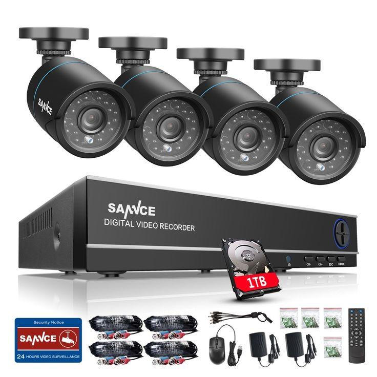 (199.99$)  Buy here  - SANNCE 8CH DVR CCTV System 4pcs 720P TVI Security Cameras IR Indoor Outdoor 8 Channels CCTV video Surveillance diy kit 1tb hdd