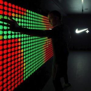 Dezeen Screen: NikeFuel Station  at Boxpark