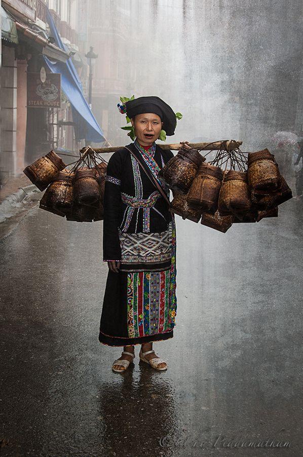Nord Vietnam. Femme de l'ethnie Lu. Ce peuple ne compte que quelques milliers d'ames.