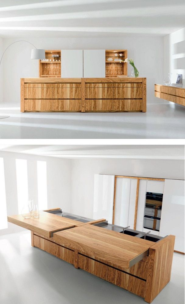 #olive #wood #kitchen with island ESSENTIAL WOOD by TONCELLI CUCINE