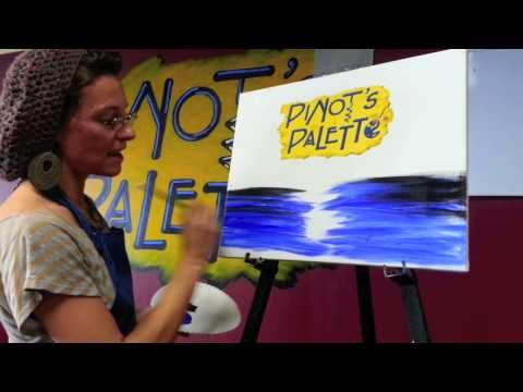 Pinot's Palette Paradise Valley - How do you streak when you paint and drink wine? - YouTube