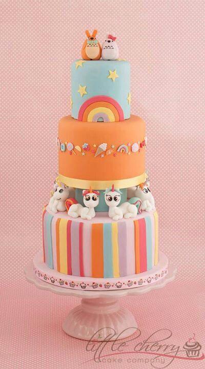Totoro & Unicorn Cake | by Little Cherry Cake Company