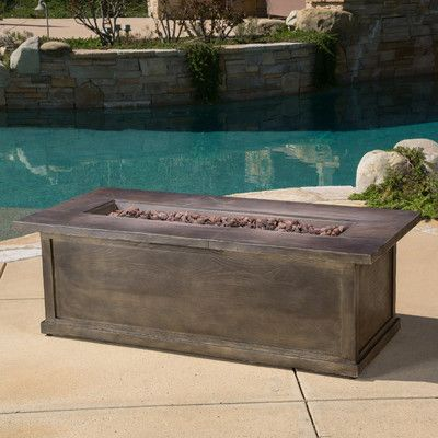 Found it at Wayfair - Capistrano Metal Propane Fire Pit Table