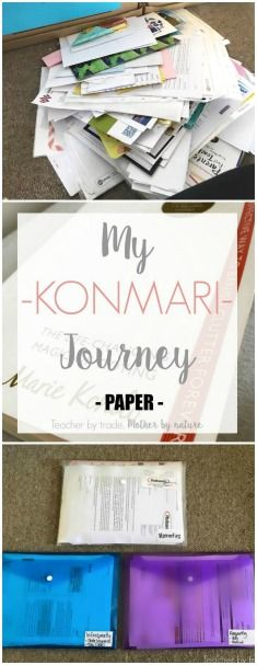 Teacher by trade, Mother by nature: My KonMari Journey - Paper