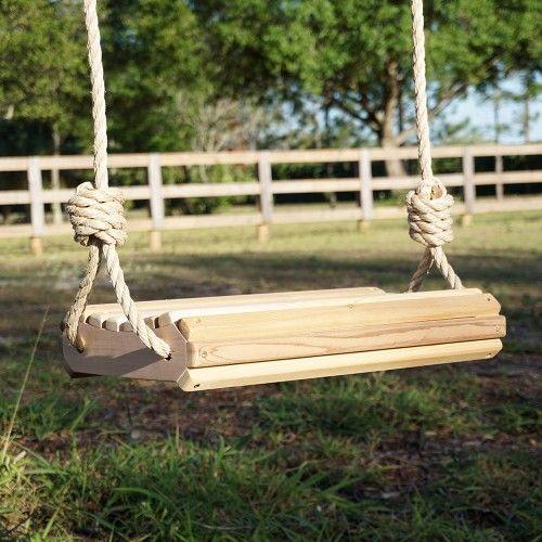 HP Swings The Roll Bottom Comfort Red Cedar Wooden Tree Swing