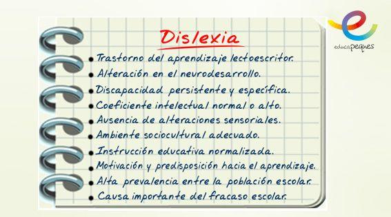 Señales Dislexia: Acentuación del lenguaje corporal. Dificultades en el área lingüística: comprensión lectora y retardo en el lenguaje