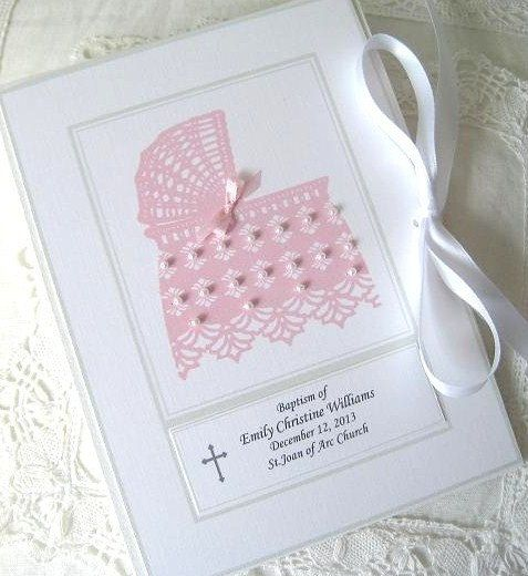 Personalized Photo Album Baby Girl Gift Baptism Girl by Daisyblu
