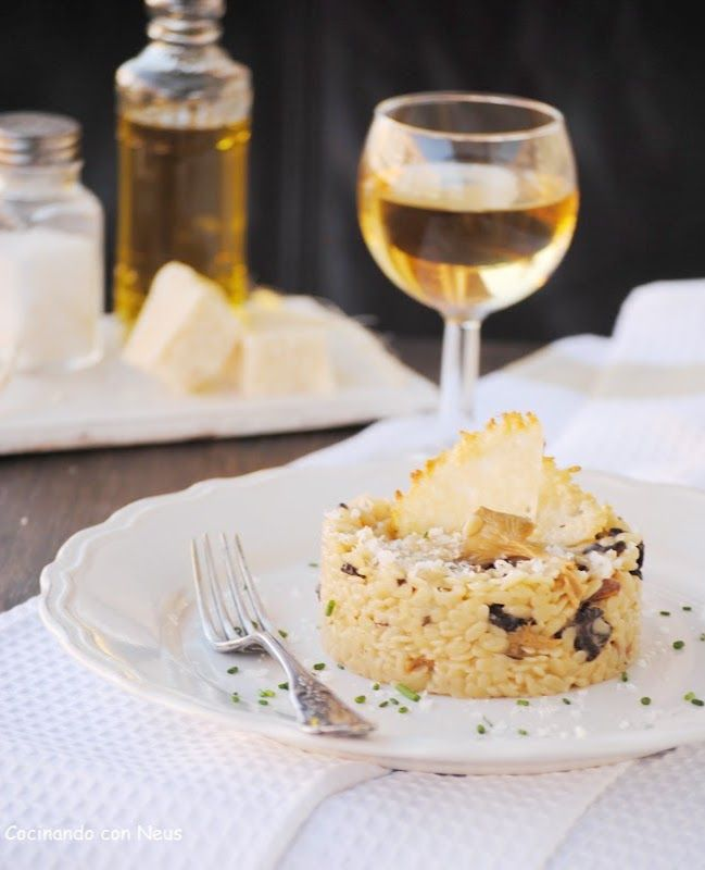 Cocinando con neus falso risotto de puntalette y setas - Rissotto de setas ...