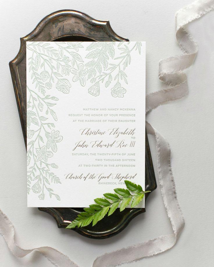 summer fete wedding invitations%0A Monochromatic Illustrated Botanical Wedding Invitations