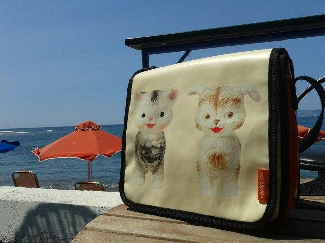 Popjes Art bag on holiday