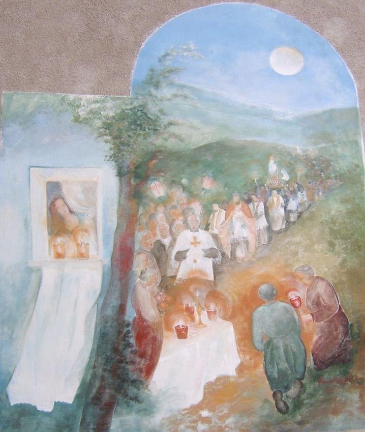 Processione della Madonna Travagola Pedavena Feltre Belluno Dolomiti Veneto Italia