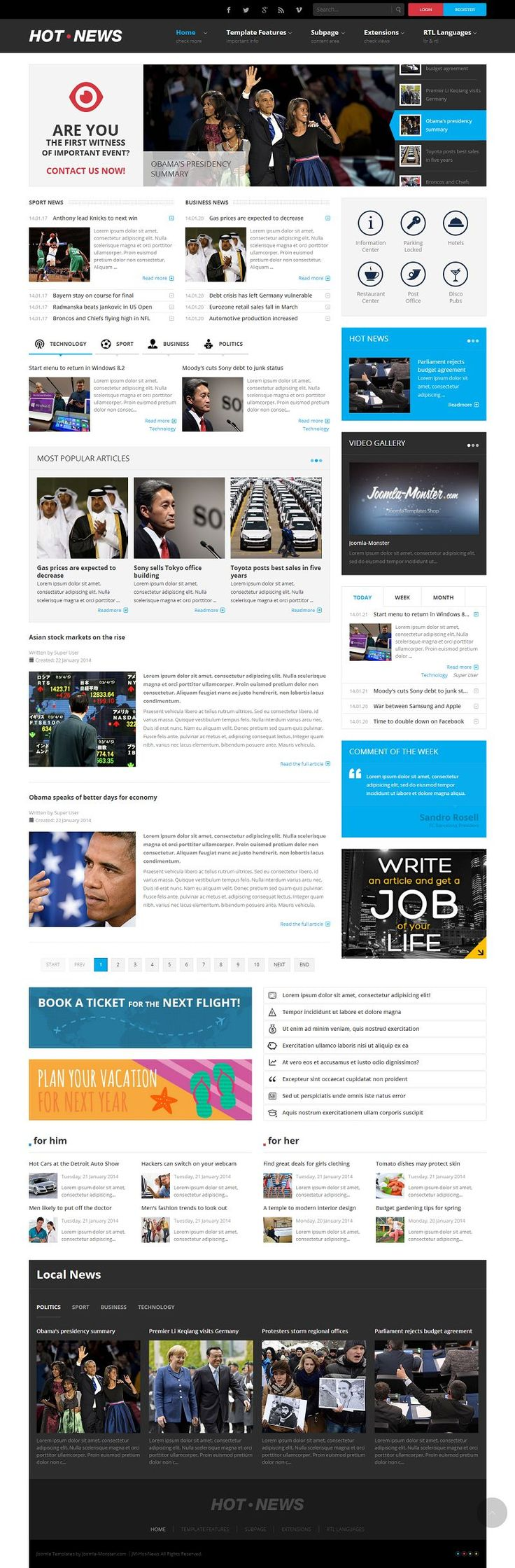 JM-Hot-News Responsive #Joomla Magazine Template http://www.themesandmods.com/joomla-templates/jm-hot-news/