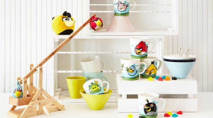 Angry Birds-mukit. Kaikki linnut käy