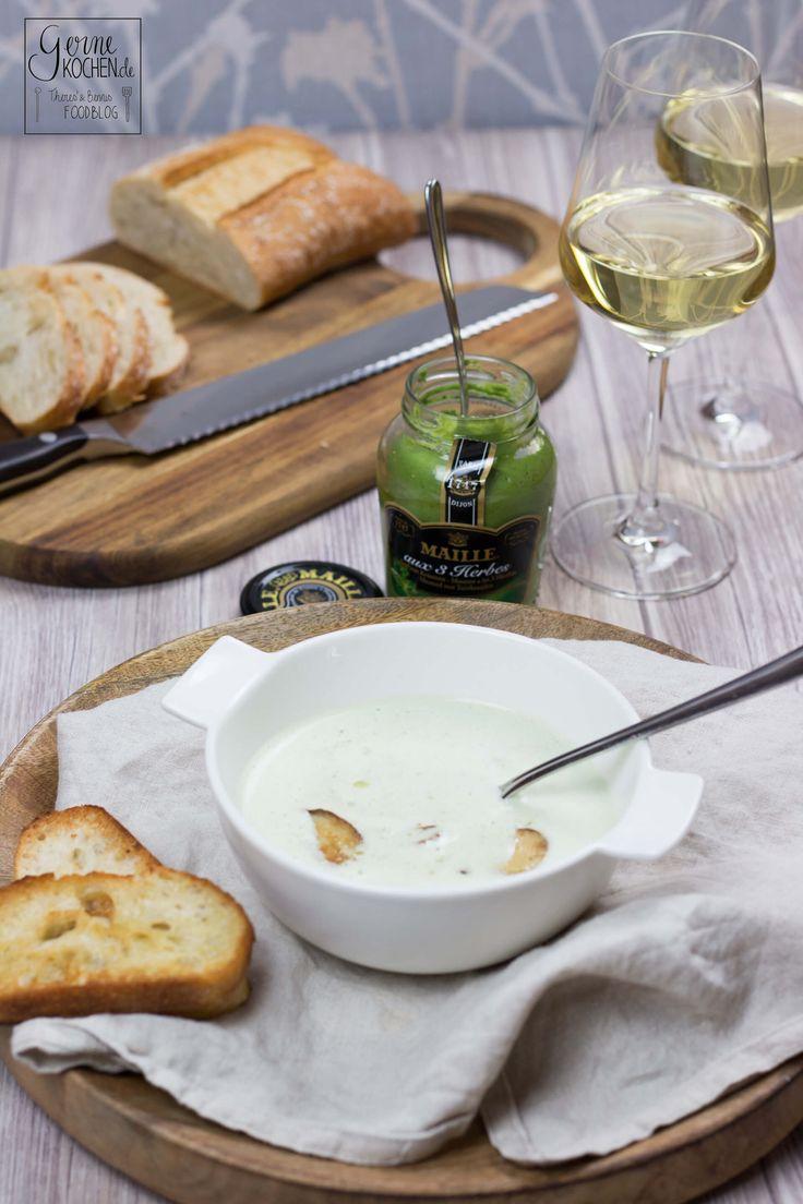 Eine tolle Senfsuppe und Weißwein ist ein wirklich edle Vorspeise. Wenn dann noch Steinpilze und Trüffel ins Spiel kommen kann es nur super schmecken.