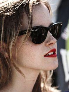 Emma Watson wearing Ray-Ban Wayfarer #sunglasses www.smartbuyglass... post